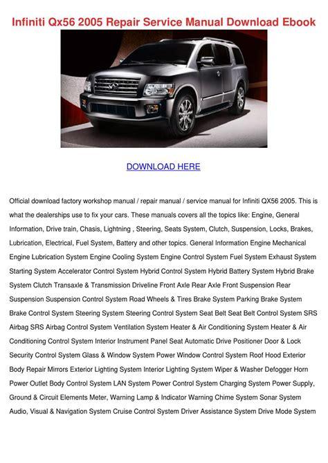 manual repair autos 2006 infiniti qx security system infiniti qx56 2005 repair service manual down by darci lovering issuu