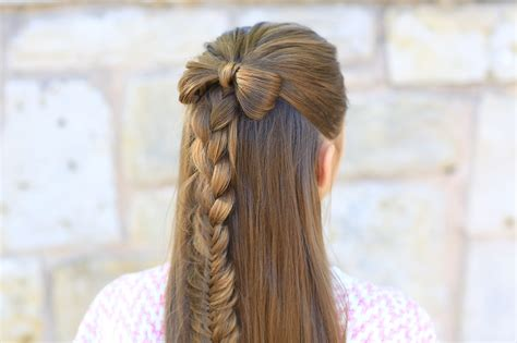 hair styles with bows half up bow combo hairstyles