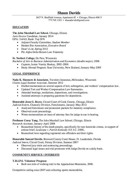 judicial intern resume sle http resumesdesign
