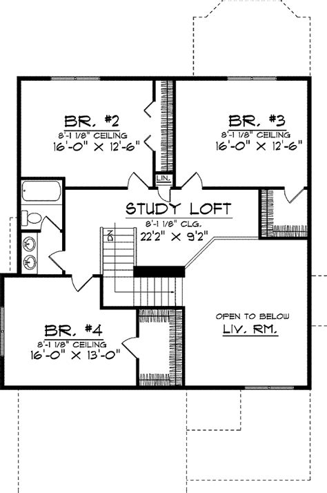 delightful two story house plans with loft two story country home plan 8982ah 1st floor master