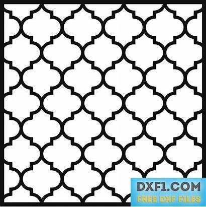Pattern Moroccan Cnc Vector Dxf Cut Stencil