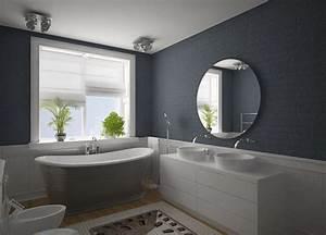 Badezimmer Grauer Boden Weiße Wand : badezimmer grau 50 ideen f r badezimmergestaltung in grau freshouse ~ Bigdaddyawards.com Haus und Dekorationen
