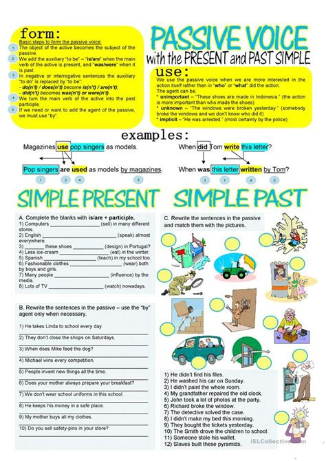 passive voice  simple present   worksheet
