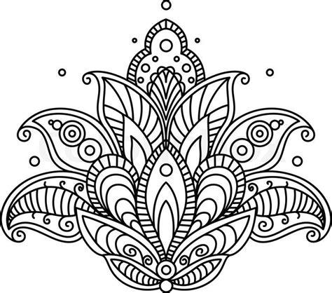 stock vector  pretty ornate paisley flower design