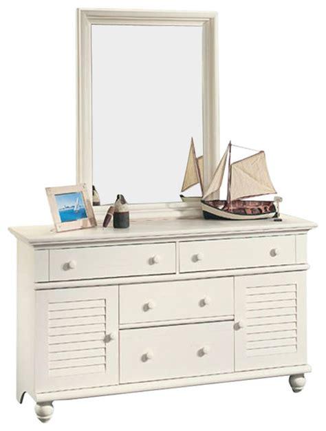 Sauder Harbor View Dresser And Mirror by Sauder Harbor View Dresser And Mirror Set In Antiqued