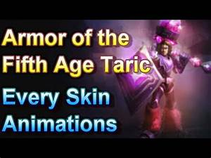 Armor of the Fifth Age Taric - Every Skin Animations ...