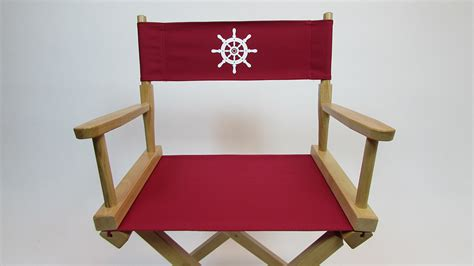 Personalized Directors Chair Replacement Covers by Custom Size Marine Themed Replacement Directors Chair