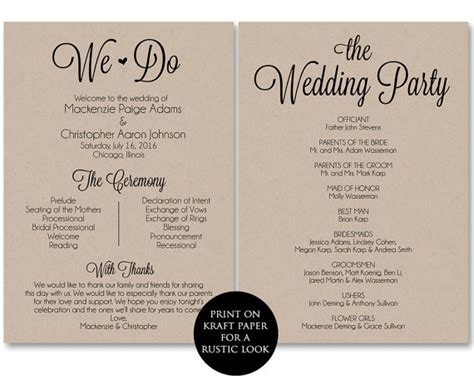Free Sle Wedding Programs Templates by Ceremony Program Template Wedding Program Printable We Do