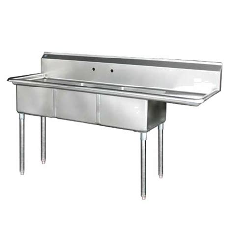 stainless steel 75 quot x 24 quot 3 three compartment sink right