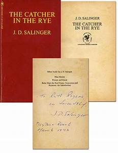 FREE APPRAISAL for Your JD Salinger Autograph or 1st ...