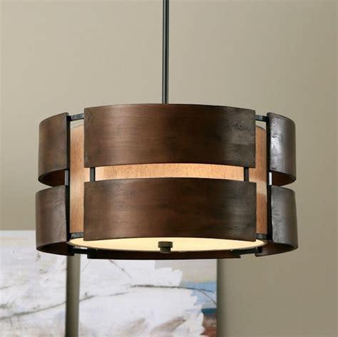 Modern Wood Chandelier by Chandelier 3 Light Rustic Walnut Wood Pendant Modern