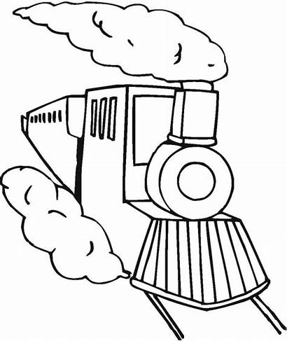 Coloring Pages Train Express Polar Cartoon Toy