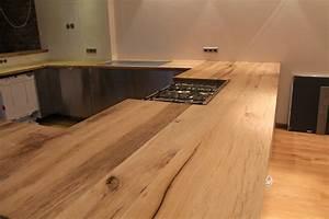 Küchen In Holzoptik : arbeitsplatte kuche holz eiche ~ Markanthonyermac.com Haus und Dekorationen