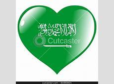 Image of heart with flag of Saudi Arabia stock vector