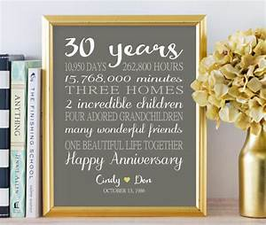 30th anniversary gifts personalized gift 30 years wedding With 30 year wedding anniversary gifts