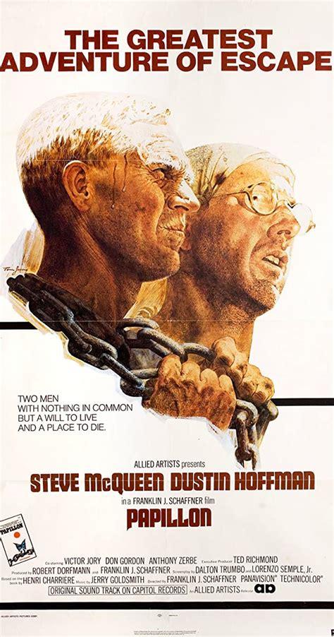 In the 1973 film papillon starring steve mcqueen as henri charrière (papillon) and dustin hoffman as louis dega. Papillon (1973) - IMDb