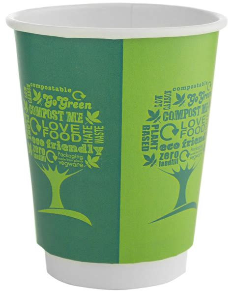 Shop now pure coffee powder from the spice club with fresh aroma & various health benefits. Compostable Green Tree Double Wall Coffee Cups - Green Man Packaging