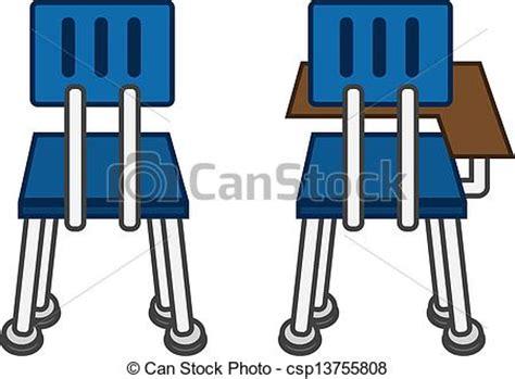 banque d accueil bureau clipart vecteur de classe chaise dos dos de classe