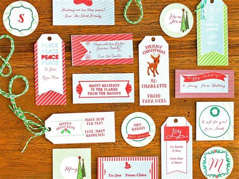 printable holiday gift tags diy swank