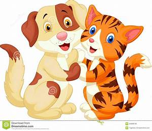 Cute Cat And Dog Clipart - ClipartXtras
