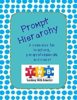 prompt hierarchy printable visual  information page