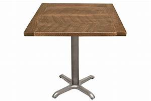 Table Height Commercial Caf Table X Style Base In Clear