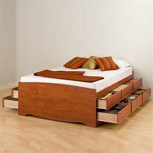 Full, Double, 12, Drawer, Tall, Platform, Storage, Bed