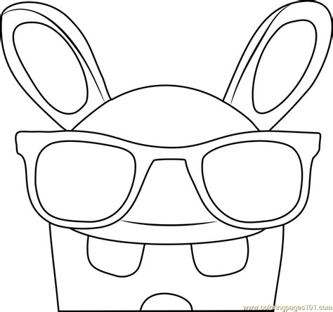 cool rabbid coloring page  rabbids invasion coloring pages coloringpagescom