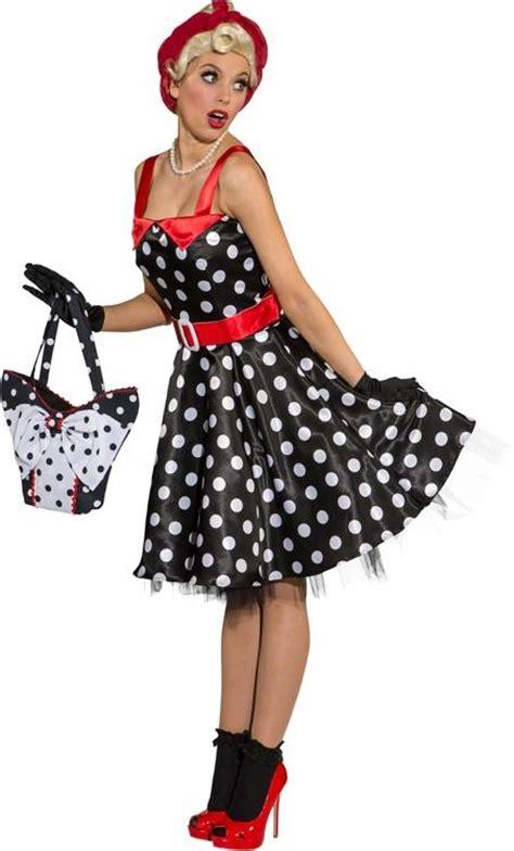déguisement pin up robe pin up noir 224 pois blancs w20179