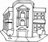 Coloring Building Office Buildings Drawing Printable Freecoloringpagefun Capitol Getcolorings Getdrawings sketch template