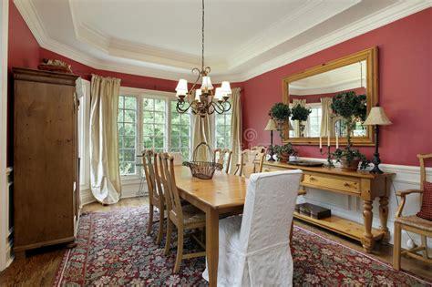 pareti sala da pranzo sala da pranzo con i draperies dell oro fotografia stock