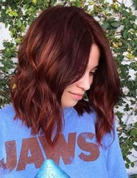 striking dark red hair color ideas