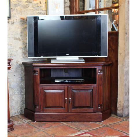 Mahogany Corner Television Cabinet   Wooden Furniture Store