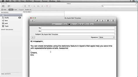 apple mail templates template business