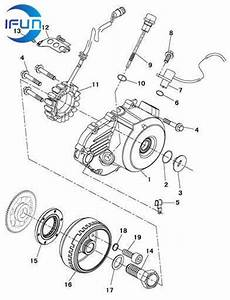 Hisun Hs800 Utv Left Crankcase Cover  U0026 Magnetor Hisun Utv Parts Hisun Atv Parts Chinese Utv