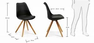 Chaise Noire Design : lot de 4 chaises noires style su dois ~ Teatrodelosmanantiales.com Idées de Décoration