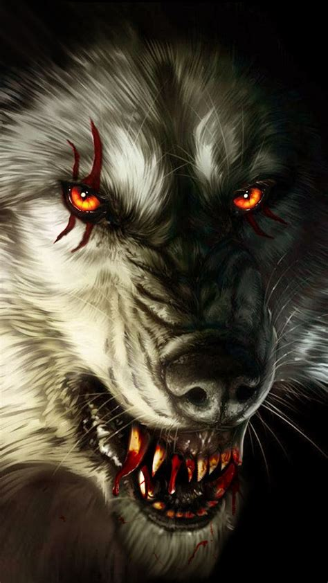 Beast Scary Wolf Wallpaper by Scary Blood Wolf Stroller Traumatizing The Woods