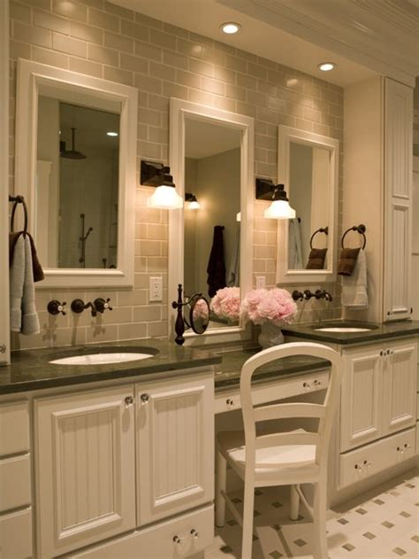 master bathroom makeup vanity home design ideas pictures
