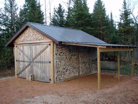 16 4x6 wood storage shed hunting blind leveling
