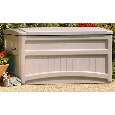 suncast deck box with seat and wheels suncast 174 deck box with wheels 138435 patio storage at