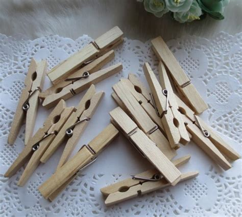 500 pieces large natural wooden clothespins clothes pins 7