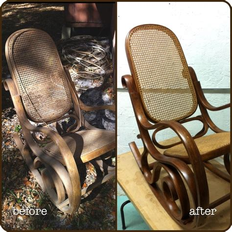recaning a rocking chair vintage bentwood rocker refinishing a rocking chair