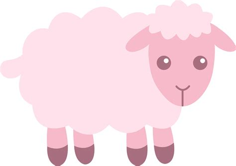 cute pink sheep clip art  clip art
