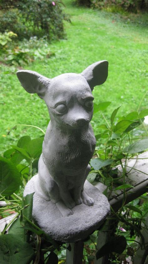 Chihuahua Garden Statue by Concrete Chihuahua Statue