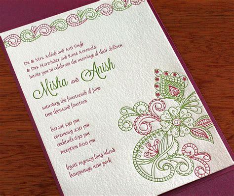 indian wedding invitation wording indian wedding invitation design gallery misha invitations by ajalon