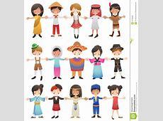 Crianças De Países Diferentes Ilustração do Vetor Imagem