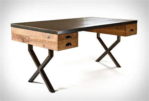 bureau acier bureau en chêne et acier walter desk de richard velloso