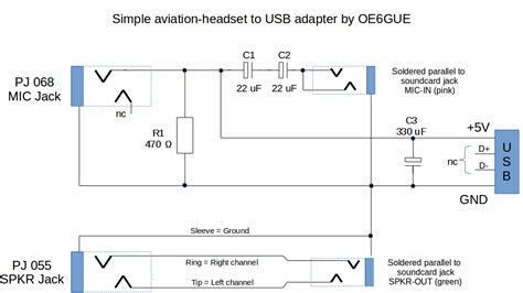 Aviation Headphone Wiring Diagram Stereo by Aviation Headset To Usb Adapter