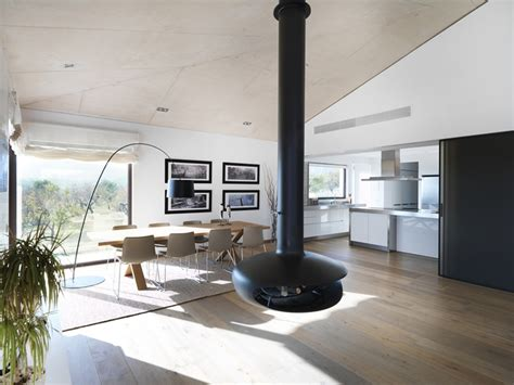 Two Modern Apartments With Perfectly Placed Bursts Of Colors by Decorar Salon Comedor Con Chimenea Decorar Salon Comedor
