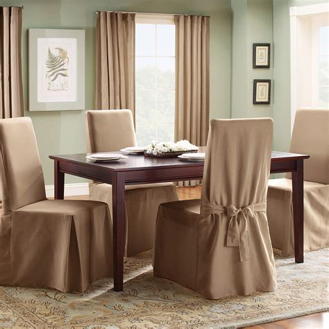 fit cotton duck long dining room chair cover chair